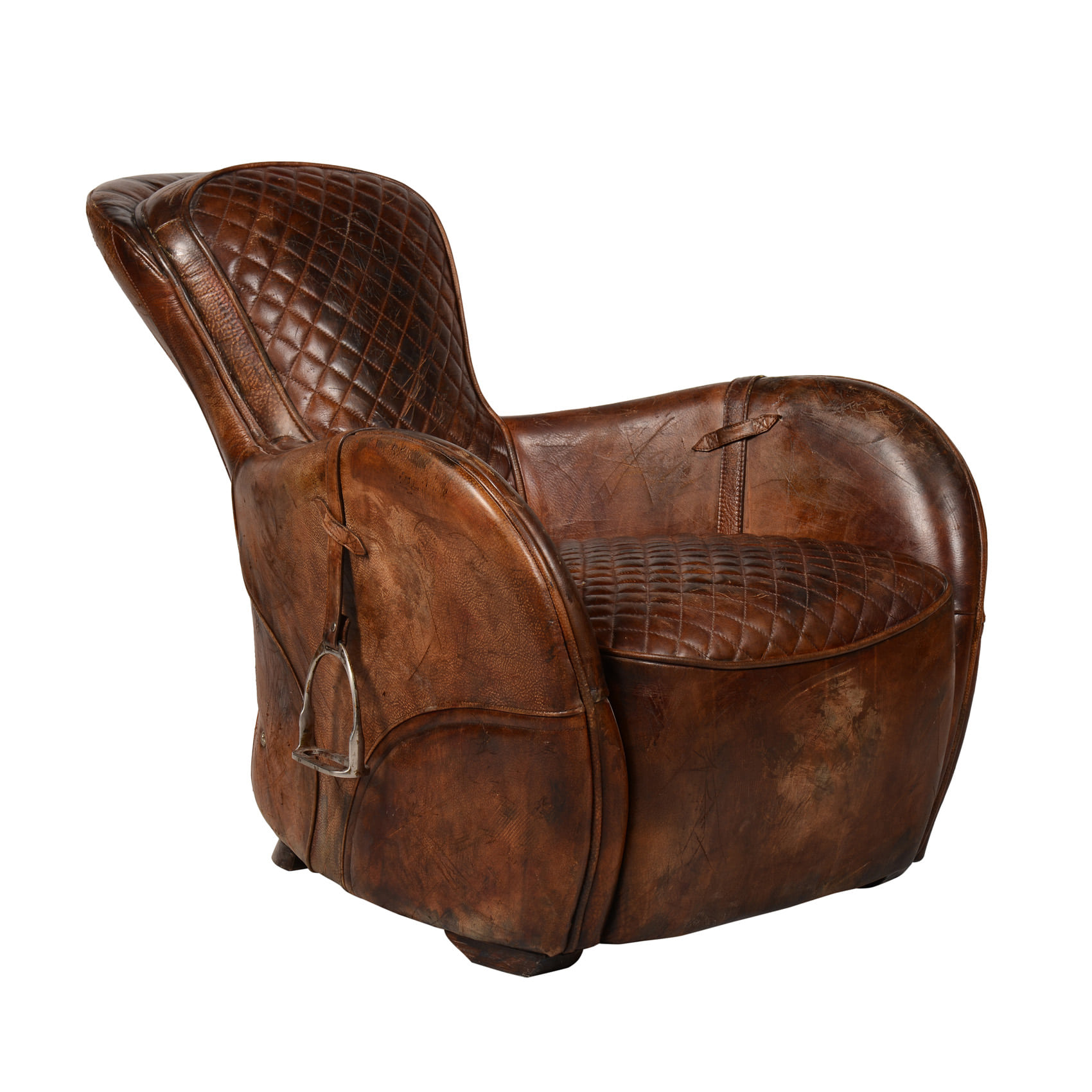 SADDLE CHAIR-BUCKD N BROKN